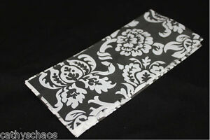 """25 White Damask Clear Cello 3.5x7.5"""" Candy Gift Goody Bags Holiday Weddings"""