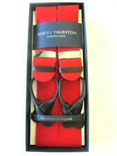ALBERT THURSTON BRIGHT RED BOXCLOTH LEATHER END BRACES