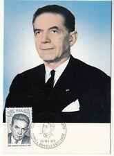 CARTE MAXIMUM FDC 1975 TIMBRE N° 1825 EDMONT MICHELET