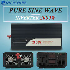 Pure Sine Wave Power Inverter DC 12V/24V/48V to AC 120V/220V 2000W Off Grid