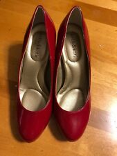 Kelly & Katie Women's Shoes Sz Us 7w Red Patent Leather Heel Pumps Classic