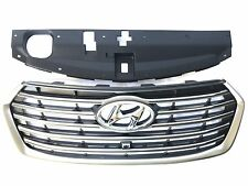 17-18-19 Santa Fe 7 Seats Front Grille Camera Type Upper Bumper W/ Sight Shield