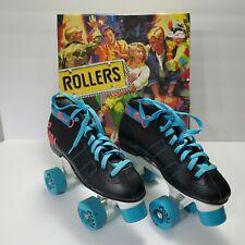 VTG Roller Derby Rollers Cobra Size 5 Roller Skates C-U340 w/Box Black/Teal/Pink