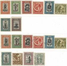 Papua Mint & Used Part Sets 1932