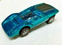 HOT WHEELS VINTAGE REDLINE FERRARI 512S (RESTORED) HONG KONG AQUA