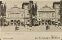 Italia Roma Théâtre Nazionale Stereo Deley , Cartolina Héliotypie Ca 1920