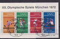 """Brd Block 8 Sonderstempel bonn   """"XX.Olympische Spiele München 1972"""""""