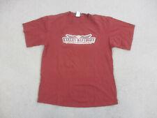 Harley Davidson Shirt Adult Large Red White New Jersey Motorcycle Biker Men A53*