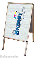 A-Board Pavement Shop Sign, Poster Display Stand, A2 Size