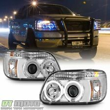 1995-2001 Ford Explorer LED Halo Projector Headlights w/Built-In Signal Lamps