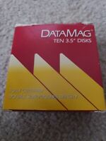 "datamag double sided double density 3.5"" disks 10 micro floppy disk used"