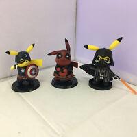 Pokemon Pikachu Cosplay Deadpool Captain America Darth Vader Figure Toy in Box