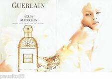 PUBLICITE ADVERTISING 116  2010  Guerlain (2p)  parfum  Aqua  Allegoria