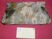 L.O'Neill Metal Rose Hand Bag Beautiful Purse Clutch Vintage Handmade Unused New