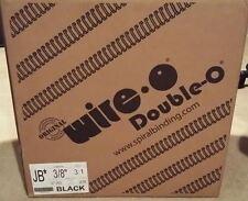 """JBI Black Twin Loop Binding Wires, 3/8""""Diam, 3:1Pitch,  47K Loops, Machine 29"""