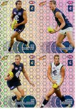 2008 Select AFL Classic Holofoil Parallel Card Team Set (10)--Carlton