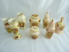 More details for collection of royal worcester palissy 'fruit' jars, vases and bell