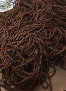 6mm Shiny Quality Gift Bag Handle Cord 1 Metre Brown