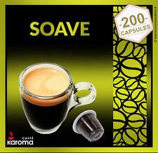 200 NESPRESSO Capsules Compatible Pure Italian Coffee Karoma (Soave) $.32 Pods