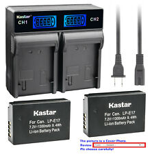 Kastar Battery LCD Rapid Charger for Canon LP-E17 LC-E17 & Canon EOS M6 Mark II