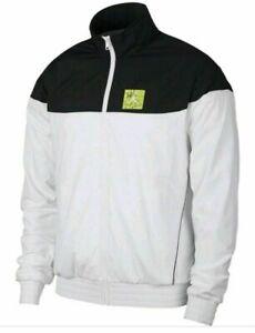 Nike Air Jordan Legacy Tinker Starter Jacket Mens SZ Large Black White BQ0295