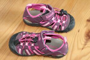 Sandalen Wandersandalen Mädchen Kamik lila-pink neuwertig