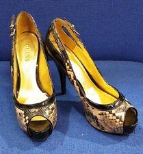 Guess Scarpe Col Tacco Snake Skin donna usato PreOwned Donna Taglia 6 39 Festa