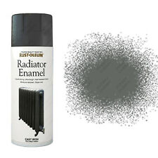 x2 Rust-Oleum Ultra-Tough Radiator Enamel Spray Paint Cast Iron Grey Textured