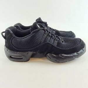 Bloch Womens Boost Dance Shoes Sneakers Black Split Sole Jazz Hip Hop Size US10