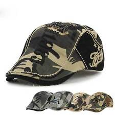 Mens Womens Sport Outdoor Baseball Cap Golf Snapback Hip-hop Flat Hat Beret camo