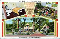 Dallas TX Bon Air Courts Hotel Motel 3811 Ross Avenue 1940s Linen Postcard
