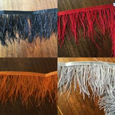 1 yard  Ostrich Feather Trimming Fringe Ribbon Cloth Decor 8-10 cm