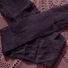 3 Pairs of 15 Denier Sheer Shiny Lustrous Tights NEARLY BLACK Medium