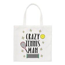 CRAZY TENIS Hombre Pequeño Bolsa - Divertido Deporte Shopper Hombro