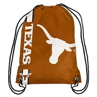 Texas Longhorns Big Logo Side Stripe Drawstring Backpack Backsack Football