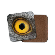 Yellow Eagle Eye Coaster - Wildlife Wild Cool Bird Animals Mum Aunt Gift #15458