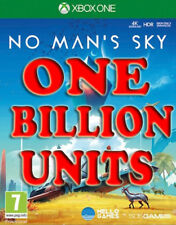 "No Mans Sky 1 BILLION UNITS ""NOT THE GAME""  (XBOX ONE ONLY)"