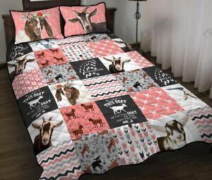 Goat Pink Quilt Bed Set DA375