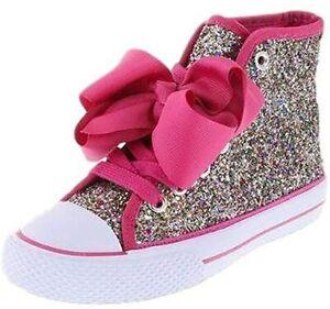 Girls Jojo SIWA Shoes Rainbow Glitter High Top Boots Trainers Character C13-UK 4