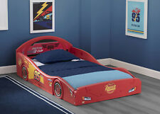 Boys Disney Pixar Cars Lightning McQueen Plastic Toddler Race Car Bed Kid Child