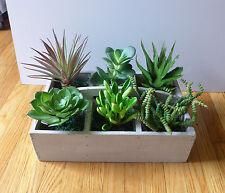 8 Artificial Plastic Mini unkillable Succulents Plants Home Garden Decoration