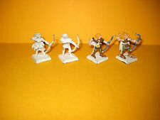 Waldelfen - Wood Elves - Marauder - 4x Archers - Bogenschützen aus Metall I