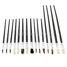 15Pcs Assorted Set Artist Paint Brushes For Acrylic Oil Painting Watercolor Gift