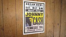 Johnny Cash Dream Bowl Repro Tour POSTER