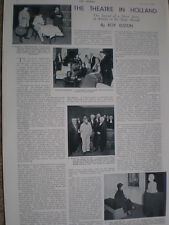 Photo article on state of theatre in the Netherlands 1935