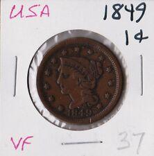 USA 1849 | Braided Hair Cent | VF