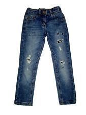 Kids Girls Next ripped frayed slim jeans stretch Trousers Pants 5 Years 110 Cm