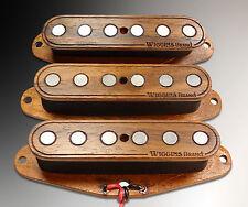 Wiggins Brand, hand wound Strat set, Alnico, Wood, made to order