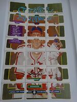 1988 Donruss Stan Musial Cardinals Diamond King 21 Card Complete Puzzle