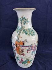 GOOD 19th CENTURY CHINESE PORCELAIN FAMILLE VERTE HAND PAINTED VASE.